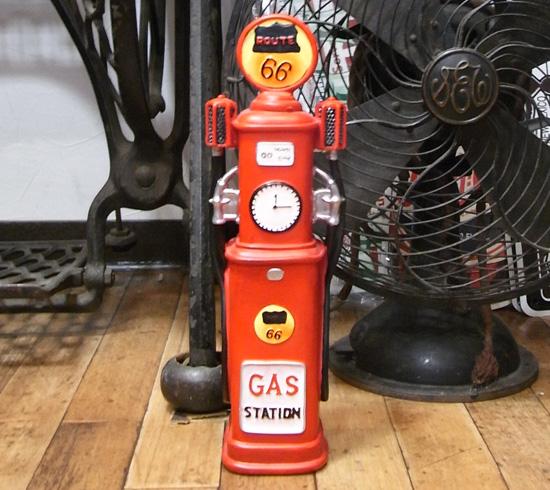 ガスポンプスタンド レジン貯金箱 バンク 置物インテリア アメリカン雑貨 の画像
