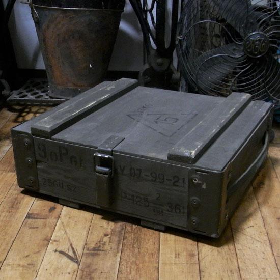 ポーランド軍 アンモボックス ミリタリー 小物入れ ユーズド レトロインテリア アンティーク雑貨の画像