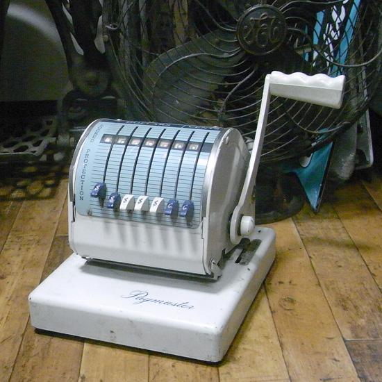 アンティーク 印字機 スタンパー ペイマスター レトロインテリア アンティーク雑貨の画像