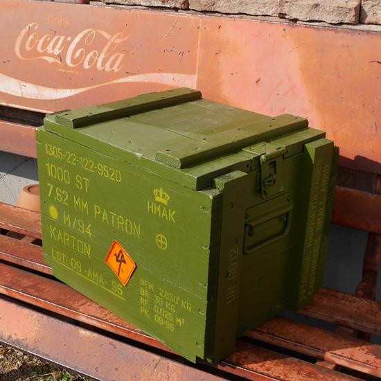 デンマーク軍 アンモボックス ミリタリー アミニッションボックス アーミーインテリアの画像
