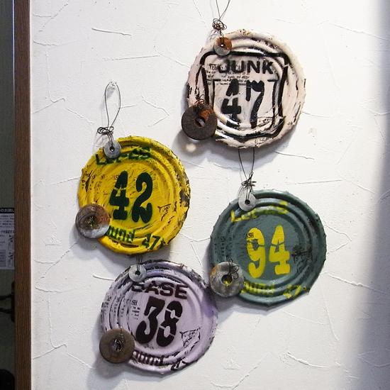 ブリキ缶 オーナメント リサイクルインテリア ティンプレート ブリキ看板 ガーデニング雑貨の画像