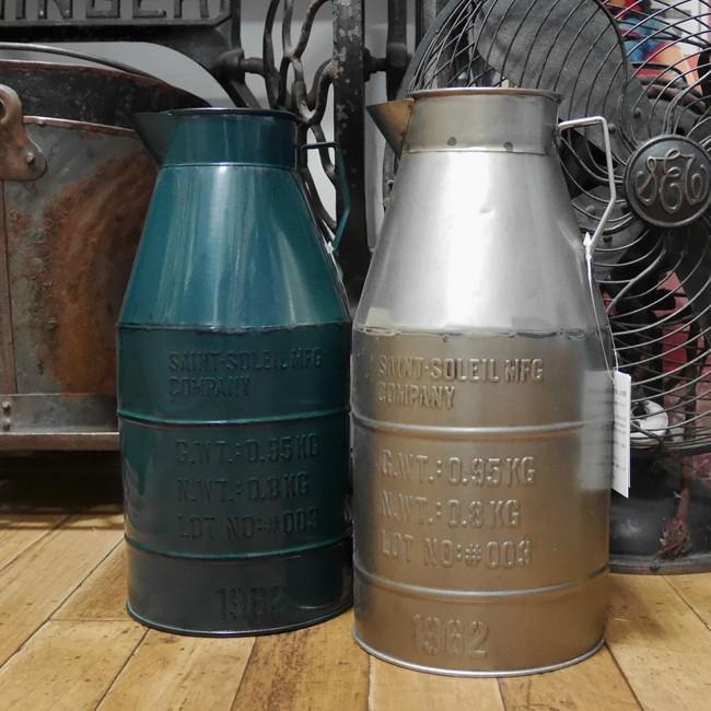 ミルクポット ミルク缶 ガーデニングポット プランター ガーデニング雑貨 カントリー雑貨  の画像