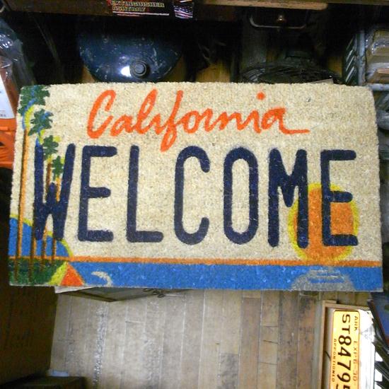 カリフォルニアウエルカムコイヤーマット 玄関マット アメリカン雑貨の画像