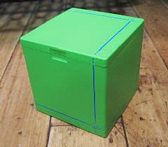 ハニカムキューブ灰皿【グリーン】  卓上灰皿 アメリカン雑貨の画像