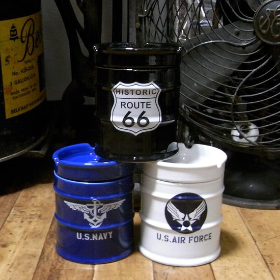 ドラム缶灰皿 アメリカン卓上灰皿 陶器製灰皿  卓上灰皿 アメリカン雑貨の画像