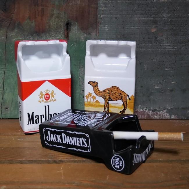 タバコ 箱型 ジョーク  卓上灰皿 アメリカン雑貨の画像