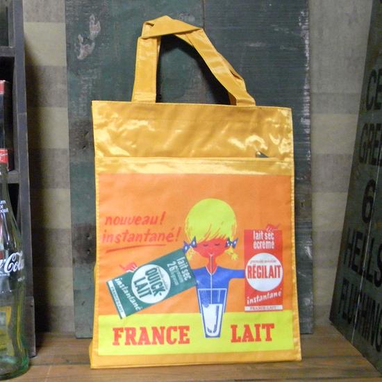 ナイロントートバッグ【FRANCE LAIT】 トートバッグ アメリカン雑貨の画像