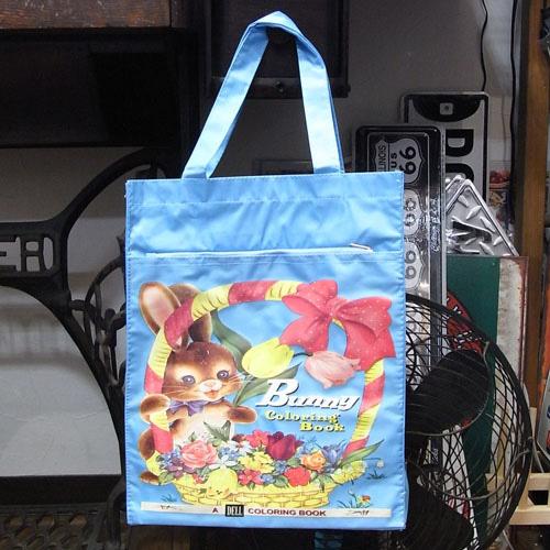 ナイロントートバッグ【Bunny】 トートバッグ アメリカン雑貨の画像