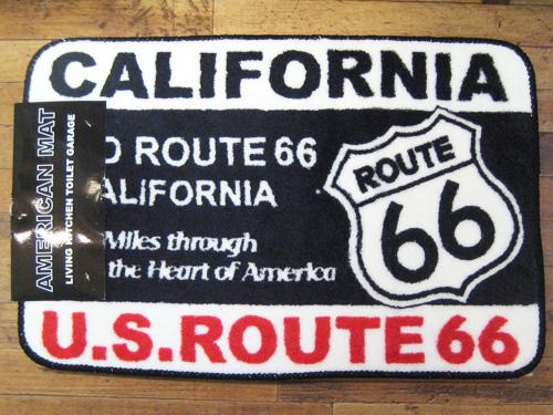 【ルート66カリフォルニア】インテリアマット 玄関マット バスマット アメリカン雑貨画像