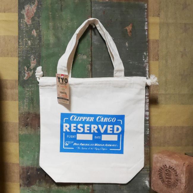 パンナム コットントート トートバッグ 巾着バッグ アメリカン雑貨画像