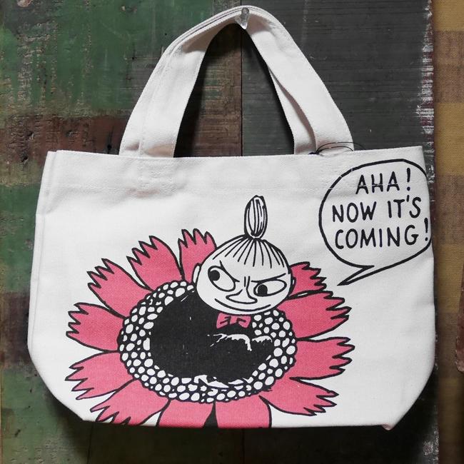 リトルミィ【フラワー】 ミニトートバッグ ランチトートバッグ MOOMIN コットンバッグの画像