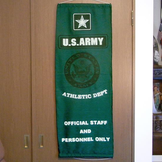 ミリタリー ナイロンフラッグ タペストリー U.S. ARMY アーミー インテリア アメリカン雑貨の画像