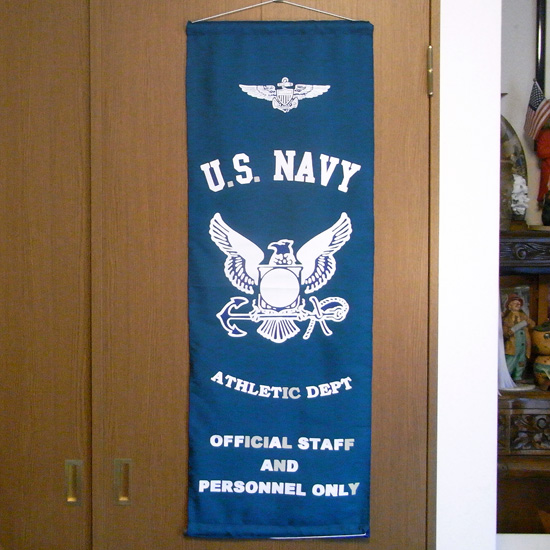 ミリタリー ナイロンフラッグ タペストリー U.S. NAVY インテリアの画像