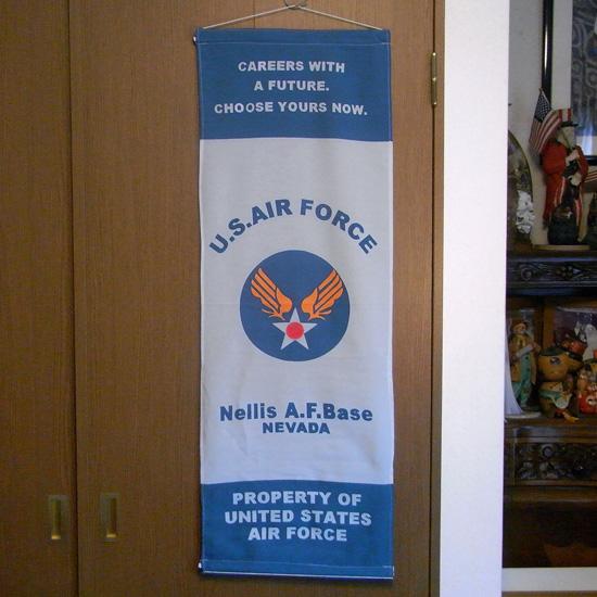 ミリタリー ナイロンフラッグ タペストリー U.S. AIR FORCE インテリアの画像