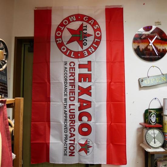 テキサコ タペストリー TEXACO フラッグ アメリカン雑貨の画像
