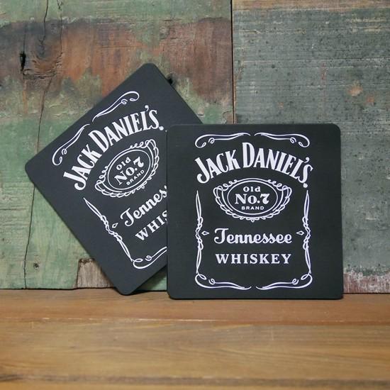 ジャックダニエル ラバーコースター 2枚セット Jack Daniel's アメリカン雑貨画像