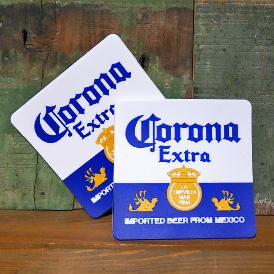 コロナビア ラバーコースター 2枚セット Corona アメリカン雑貨の画像
