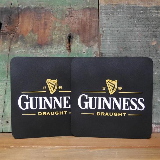 ギネスビール ラバーコースター 2枚セット GUINNESS アメリカン雑貨の画像