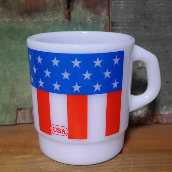 アメリカン プラスチック マグカップ USA ミルキースタッキングマグカップ アメリカン雑貨の画像