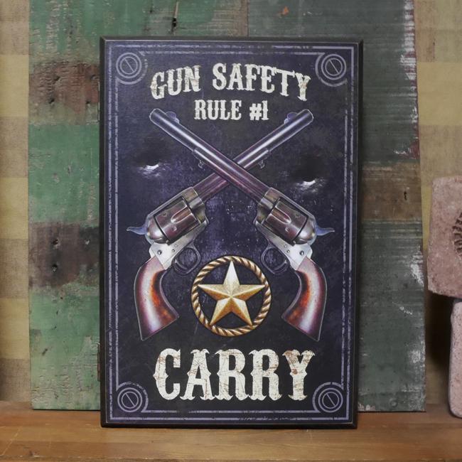 キーボックス ウエスタン ウッドキーラック RULE #1 CARRY   アメリカンインテリアの画像