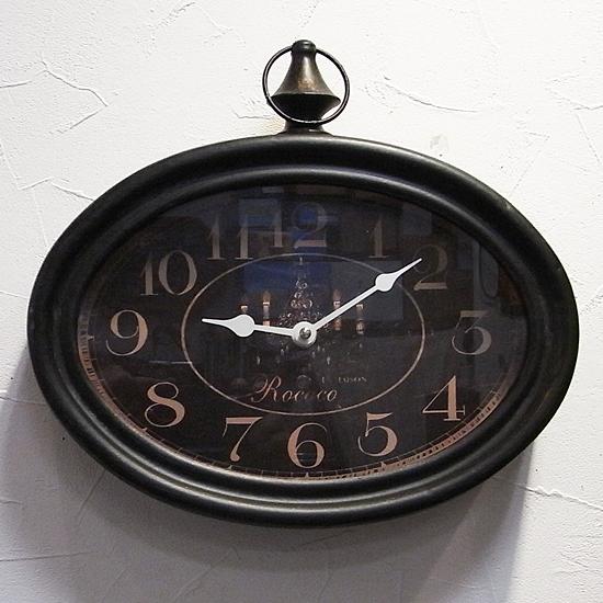 アンティーク掛け時計 STEEL RIM CLOCK HORIZONTAL レトロ掛け時計 レトロ雑貨 の画像