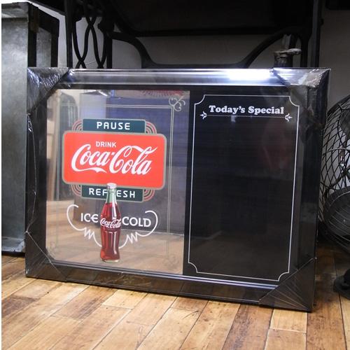 コカコーラ パブミラー メニューボード 鏡 アメリカ雑貨画像