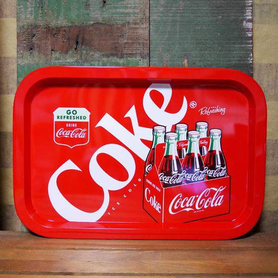 コカコーラ ティントレイ 6ボトルズ お盆 アメリカン雑貨の画像