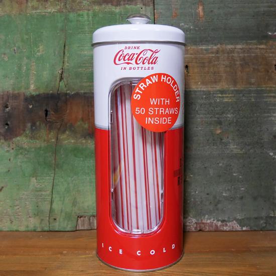 コカコーラ ストローホルダー ティンディスペンサー アメリカン雑貨の画像
