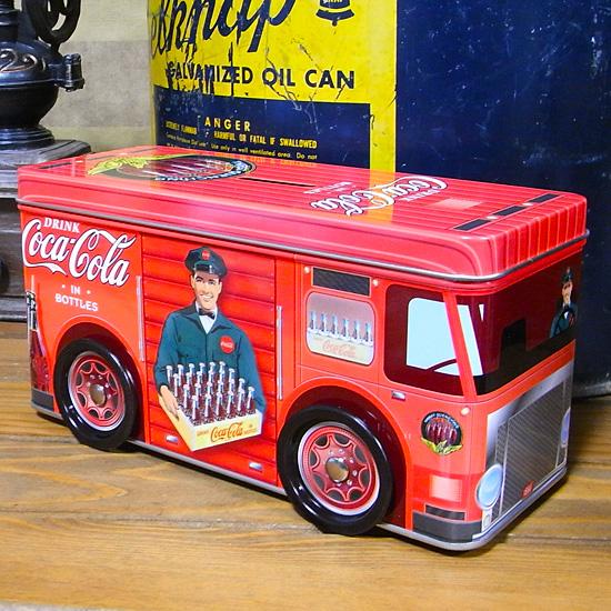 コカコーラ トラック型貯金箱 コインバンク アメリカン雑貨の画像