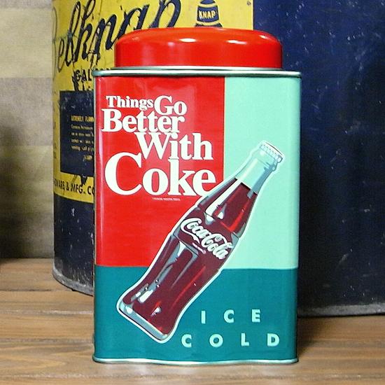 コカコーラ キャニスター缶 小物入れ アメリカン雑貨の画像