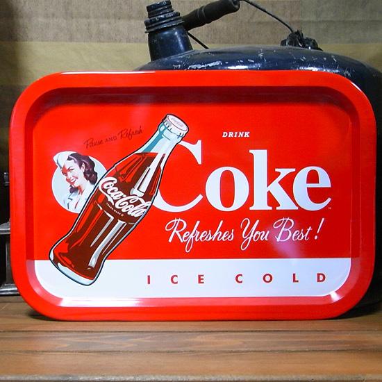 コカコーラ ティントレイ お盆 アメリカン雑貨の画像