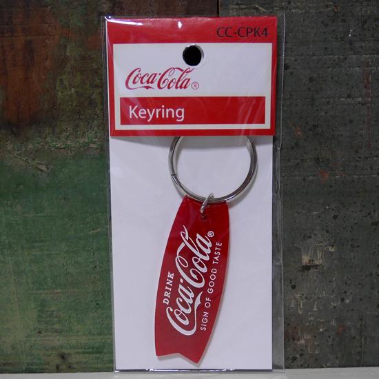 コカコーラ キーホルダー CocaCola クリアキーリング アメリカン雑貨の画像