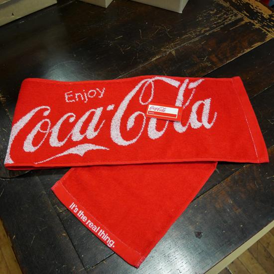 コカコーラ マフラータオル CocaCola ロングタオル アメリカン雑貨の画像