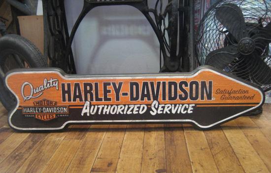 ハーレーダビッドソン 木製看板 アロー ウッドボード アメリカ雑貨の画像