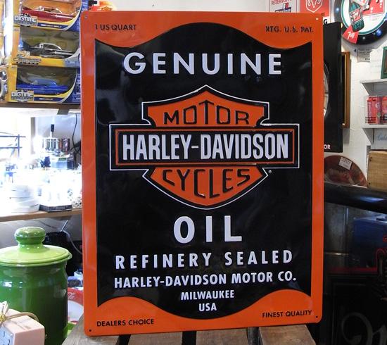 ハーレーダビッドソン サインプレート インテリア アメリカ雑貨の画像