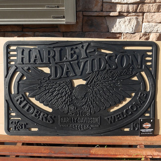 ハーレーダビッドソン ラバーマット RIDERS WELCOME  玄関マット HARLEY-DAVIDSON画像