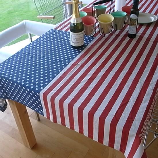 星条旗 テーブルクロス USA〔ブラウン〕 アメリカン雑貨の画像