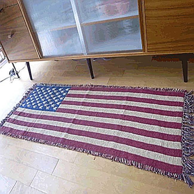 星条旗 ロングインテリアマット アメリカン ラグマット キッチンマット アメリカン雑貨画像