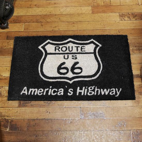 ルート66 コイヤーマット 玄関マット ROUTE66 コイアマット アメリカン雑貨の画像