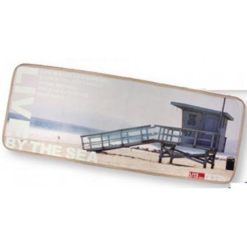Lifeguard ロングインテリアマット カリフォルニアスタイル デジタルプリント キッチンマットの画像