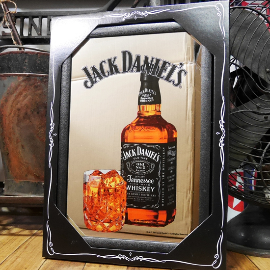 JACK DANIEL'S パブミラー ジャックダニエル スピーゲルミラー インテリア 鏡の画像