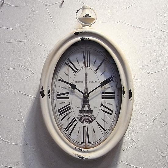 掛け時計 STEEL RIM CLOCK VERTICAL レトロクロック レトロ雑貨画像