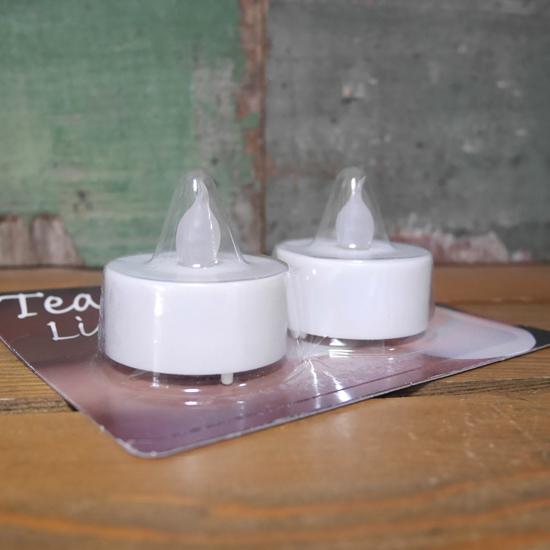 LED キャンドルライト 2個セット ティーライト シングルカラー インテリアの画像