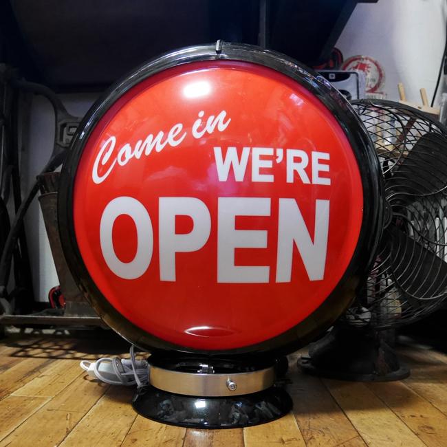 ガスランプ OPEN インテリア ネオンサイン オープンサイン アメリカン雑貨画像