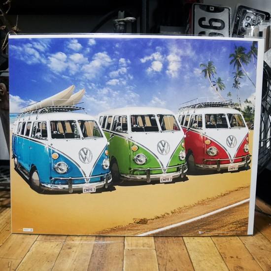 MPポスター ワーゲンバス インテリアポスター VW CALIFORNIAN CAMPER画像