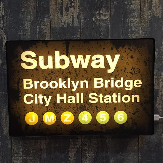 LED サインライト【 Subway】 アメリカン雑貨の画像