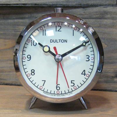 目覚まし時計 クローム DULTON ダルトン アメリカン雑貨の画像