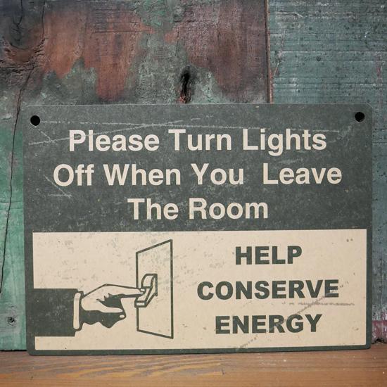 インフォメーション ミニサインボード ENERGY 木製看板 案内板の画像