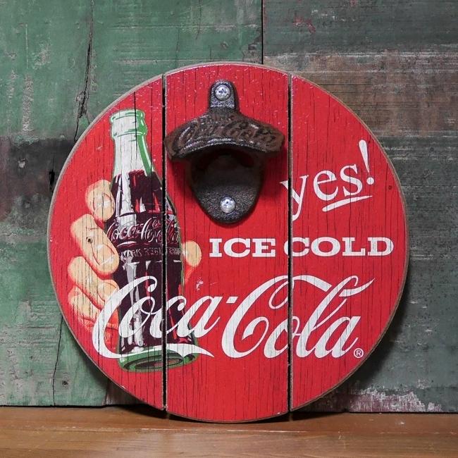 コカコーラ ボトルキャップオープナー 栓抜き COCA-COLA アメリカンインテリア画像
