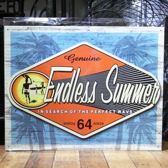 ハワイアン ティンサインプレート ブリキ看板 エンドレスサマー アメリカン雑貨の画像